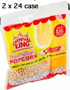 Carnival King All in one Popcorn Kit For 8 10 Ounce Poppers 48 2 24 case