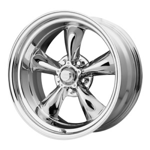 17 Inch Staggered 17x7 17x8 Chrome Classic Rims Wheels Chevy Bel Air 1956 1970