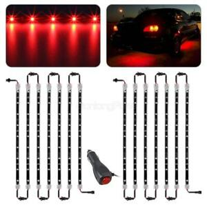 14pcs Red 3528 Led Under Car Glow Underbody Undercar Shine Lights Bar Strip Kit