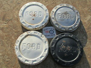 1961 66 Ford F 100 1 2 Ton Pickup Truck Van Poverty Dog Dish Hubcaps Set Of 4