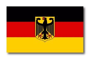 German Flag Coat Of Arms Eagle Decal 3m Sticker Germany Various Sizes Usa Made