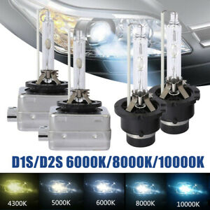 2x Hid Xenon D1s D1r For Osram Philips Headlights High And Low Beam Bulbs 6k 8k