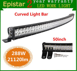 7d Tri row 50 inch 648w Curved Led Light Bar Offroad Toyota Truck Ford Pk 48 52