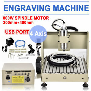 Usb 3 4 Axis Cnc 3040 6040 6090 Router 1 5kw Engraving Machine 3d Cutter 1500w