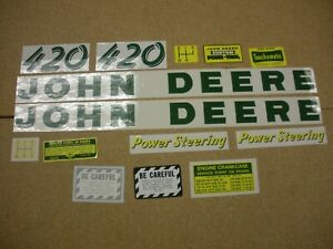 John Deere 420 Decal Set New Free Shipping