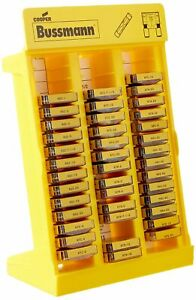 Bussmann No 200 Glass Tube And Blade Type Fuse Display Stand 172 Fuses