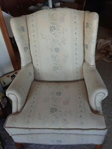 Wing Back Chairs Pair 100 Each With Pair Free Foot Stool