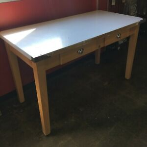 John Boos Work Table Cucina Milano 30x60 Stainless Steel Top With Wood Base