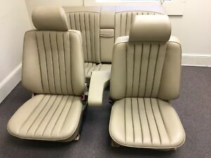 1993 Mercedes benz 190e Front Rear Seats Cream Beige Used