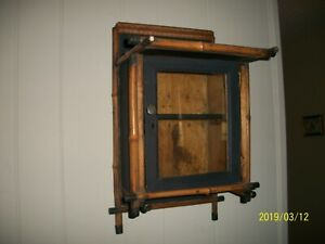 Antique Bamboo Wood Wall Cabinet