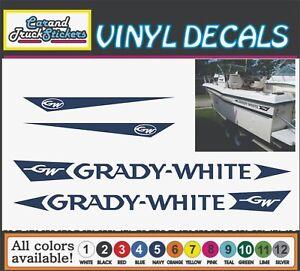 53 Grady White Replacement Boat Fishing Truck Car Vinyl Decal Window Sticker