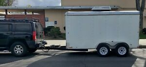 Used 6x12 6 X 12 V nose Enclosed Cargo Trailer Used 2013