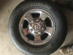 Dodge Ram Set Rims Wheels Oem 8 Lug Tires Stock Cummins 2500 3500 2009 Aluminum