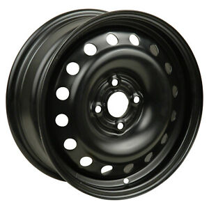 06624 New Compatible Black Steel Wheel 15 Inch Fits Chevrolet Aveo 2009 2010