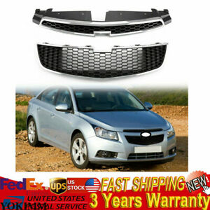 Front Upper Grill Lower Grille 1 Pair For Chevy Cruze 11 14 1 4l 1 8l 2 0l