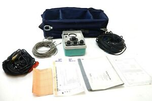 Biddle Megger Earth Ground Resistance Tester 63241 Null Balance Cables Manual