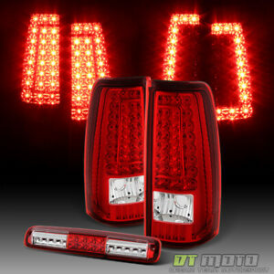 1999 2002 Chevy Silverado Sierra 1500 Led Tail Lights Led 3rd Brake Cargo Lamp