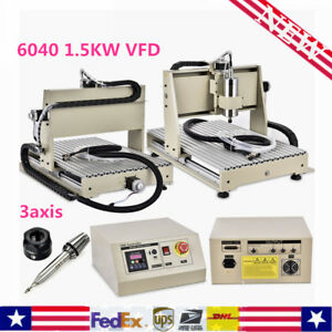 3 Axis Cnc 6040 Router 1 5kw Vfd Spindle Engraving Carving Machine Desktop 1500w