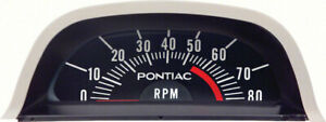 Oer Hood Tachometer 5500 Red Line 6 Cyl Point Ignition 1968 Pontiac Firebird