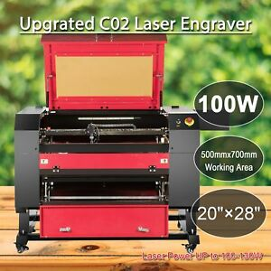 100w Co2 Usb Laser Engraving 700x500mm Cutting Machine Engraver Cutter Edy