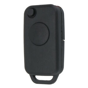 1 Button Flip Remote Key Fob Case Shell Uncut Blade For Mercedes Benz 1992 2003