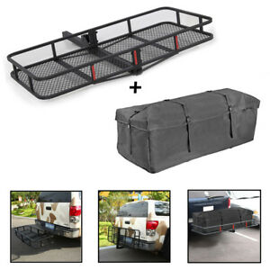 60 Luggage Folding Mounted Hitch Cargo Carrier Basket Tray Waterproof Bag