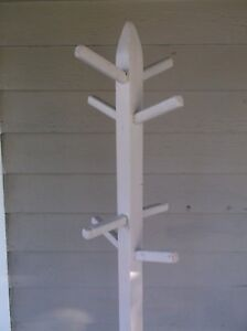 Antique Style Shabby Chic Wood Coat Stand