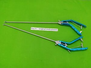 Storz type Needle Holder Left Curvd right Curvd 5mmx330mm Laparoscopic Surgical