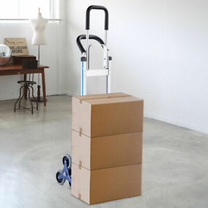 Hand Truck Foldable 2 in 1 550 Lbs Stair Heavy Duty Aluminum Climbing Cart Dolly