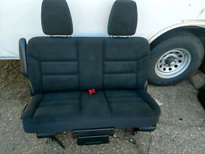 2011 2018 Dodge Grand Caravan Second Row Bench Black Cloth Seat Only