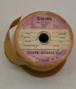Vintage Driver Harris Nickel Alloy Single Enamel Fiber Glass Cloth Wire 32 Awg