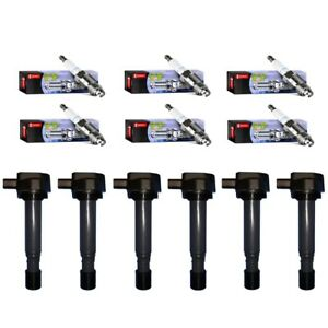 Set Of 6 Ignition Coils 6 Denso Spark Plug Platinum Tt For Honda Acura Saturn