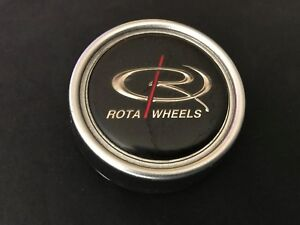 Rota Wheels Custom Wheel Center Cap Silver Gray Finish Diameter 2 5 8
