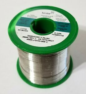 5 Silver 95 tin Kester Solder 031 Rosin Flux 66 44 24 7070 0027 Audio New 1lb