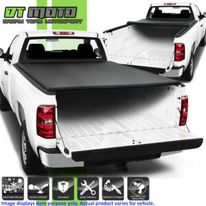 Soft Roll Up Tonneau Cover For 2007 2013 Chevy Silverado Gmc Sierra 8ft Long Bed