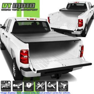 2007 2013 Chevy Silverado Gmc Sierra 1500 6 5ft Bed Hard Tri fold Tonneau Cover