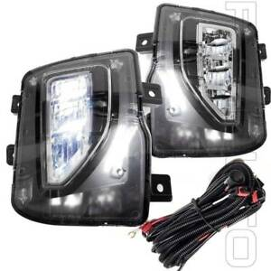 Fit 2016 2018 Chevy Silverado 1500 Clear Lens Fog Light With Switch Wire Harness