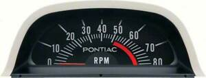 Oer Hood Tachometer 5200 Red Line V8 Point Ignition 1969 Pontiac Firebird Gto