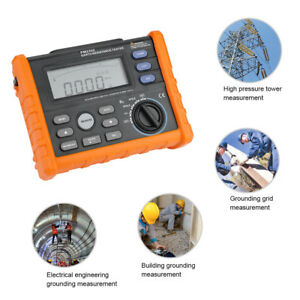Peakmeter Pm 2302 Digital Earth Resistance Megger 100 Groups Data Logging Meter