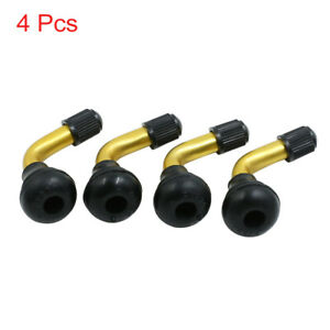 4pcs 90 Degree Angle Snap In Rubber Tubeless Tire Valve Stems For Car Motocycle