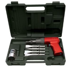 Pneumatic Air Hammer Chisel Tool Set Case Chisels Cutting Kit Shop Tools Part