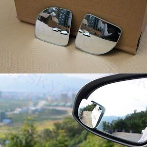 2pcs Rear Side View Blind Spot Mirror Auxiliary Wide Angle Vehicle Accessories