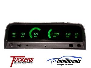 19 64 65 66 Chevy Truck Led Digital Gauge Panel Green Intellitronix Dp6002g
