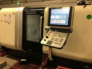 Dmg Ctx500 Alpha Cnc Lathe Complete Plus Barfeed Tooling Collets Tool Holders