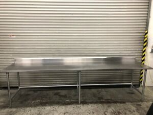 132 X 30 Stainless Steel Work Table Tabco 9588 Commercial Food Prep Nsf
