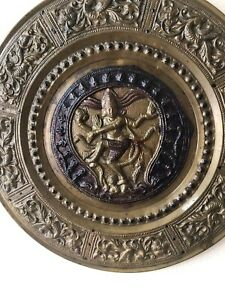 Buddha Plaque Snakes Medusa Antique Bronze Wall Hanging 8 5 Inches Unique