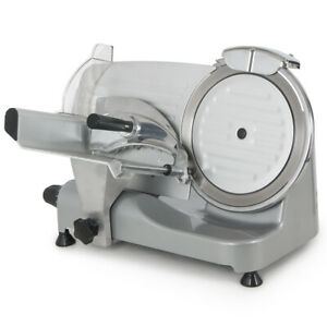 250w Commercial Deli Meat Slicer 550rpm Food Cheese Cutter 10 Blade Electric Ss