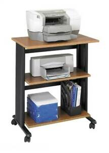 Muv Mobile Printer Stand In Medium Oak And Black Finish id 36992