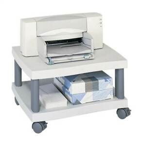 Wave Under Desk Printer Stand In Light Gray id 37189