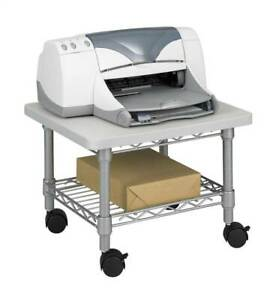 Under Desk Printer And Fax Stand In Gray id 37214
